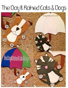 Raining Cats and Dogs! Engaging, Purposeful and EASY Writing Lesson and Craft!