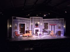 Blithe Spirit. Fredericksburg Theater Company. Directed by: Ashleigh Goff. Set and light design by: Kerry Goff.