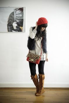 What a great look....Minnetonka boots with leopard.  Get your Minnetonka Boots at Shoedipity.com.