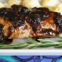 Blueberry Glazed Chicken I've made this twice. Chicken is so tender and the sauce is amazing also great using blackberries. Also I omitted the Rosemary