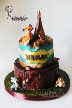 Fox in Dirty Woodland - Cake by Purbaja B Chakraborty