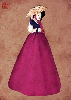미인도 - 어우동의 모습   지수연작가   Eo-oodong (Yi Dinasty, korea) painter Ji Soo Yeon