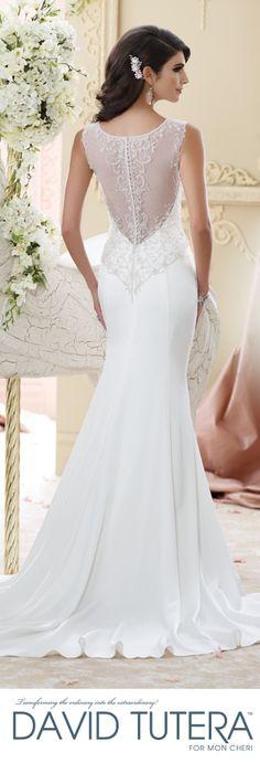 The David Tutera for Mon Cheri Fall 2015 Wedding Gown Collection - Style No. 215276 Briony  davidtuteraformoncheri.com #weddingdresses #weddinggowns