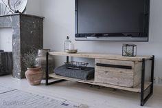 Industrieel TV meubel  - www.boxworx.nl
