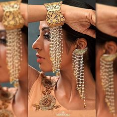 Ecstatic swan ear cuff and a matching laser cut cuff by Ra Abta are winning this wedding season with their intricate detailing & pearl chains they're meant to be the centre of attraction. Buy them at Minerali. #Minerali_store #raabta #raabtabyrahul #earcuff #cuff #gold #pearls #semiprecious #jewellery #wedding #accessory #weddingjewellery #designer #chain #ecstatic #swan #bandra #linkingroad #minerali