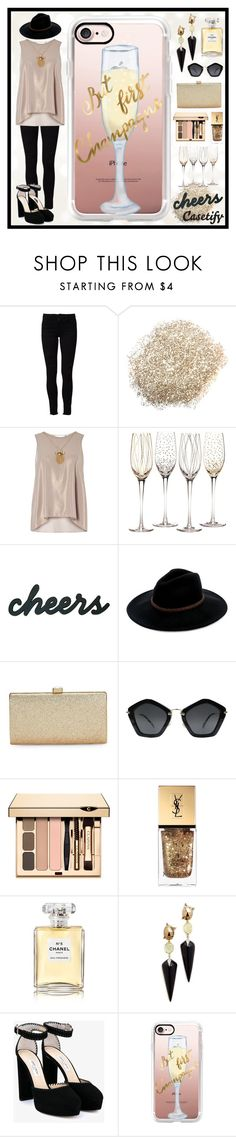 """""""Raise Your Glass! 🍻"""" by casetify ❤ liked on Polyvore featuring Frame, Dorothy Perkins, Mikasa, Billabong, La Regale, Miu Miu, Yves Saint Laurent, Chanel, Alexis Bittar and Jimmy Choo"""