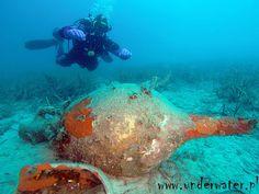 Nurkowanie z amforami na wyspie Mljet w Chorwacji - maj 2015.