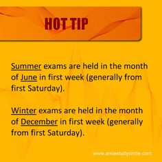 AMIE Summer and Winter exams