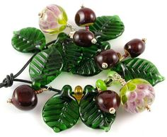 American Chestnuts and Blossoms - Betty Hanssen American Chestnut, Lampwork Beads, Blossoms, Beautiful Things, Glass, Pretty, Flowers, Drinkware, Florals