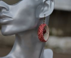 Unique Earrings with jasper stone. Beaded от EmbroideryTemari