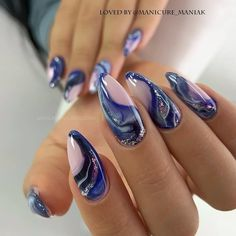 Manicure from Yekaterinburg . Acrylic Nails, Gel Nails, Manicure, Nail Polish, Nail Nail, Marble Nails, Spring Nail Art, Spring Nails, French Nails