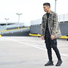 """John Melchico on Instagram: """"Shameless. Outfit by @manieredevoir all from their latest collection go check them out, wearing @adidasoriginals Yeezy Boost 350 """"Black Pirate"""" Photo by: @asap_kelv"""""""