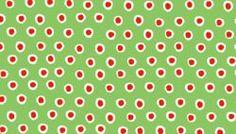 rote Tupfen auf grün