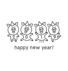 Banner 2019 happy new year year pig Royalty Free Vector Chinese New Year Crafts For Kids, Chinese New Year Activities, New Years Activities, Chinese Celebrations, Happy New Year Banner, New Year Art, Ugly Holiday Sweater, New Year's Crafts, Year Of The Pig