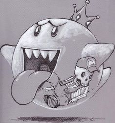 Boo - What really happens  #videogames #weapons #geek #gaming #nintendo #mario