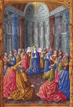 Pentecoste, miniatura presente nel Les Très Riches Heures du duc de Berry