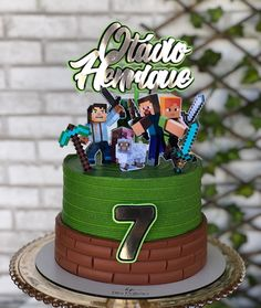 Minecraft Cake Designs, Minecraft Cake Toppers, Mine Craft Party, Roblox Cake, Mini Craft, Drip Cakes, Buttercream Cake, Confectionery, Cake Decorating