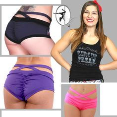 ♦ Our Circus Freak tank pairs great with any of these PoleFit Brazil shorts by Bad Kitty ♦