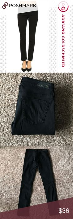 """AG """"The Stilt"""" Cigarette Jean Size 25R. Inseam 30 in. Rise 7 in. Adriano Goldschmied Black Cigarette Jeans in """"The Stilt"""". In excellent condition! Ag Adriano Goldschmied Jeans Skinny"""