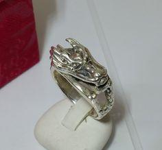 Alter Drachenring 925 Silberring Drache SR261 von Schmuckbaron