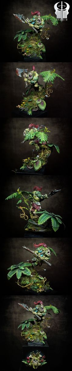 Savage Orc Big Boss GD GER Gold Warhammer Single  Manufacturer: Games Workshop  by MoMinis