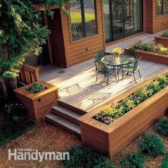 Planters For Patios And Decks - Built In Outdoor Planter Ideas Diy Projects Backyard Patio Like The Built In Planters Benches Seating Deck Picture Gallery 79 Best Deck Planters Image. Design Jardin, Garden Design, Landscape Design, House Design, Patio Design, Landscape Rocks, Exterior Design, Front Porch Flowers, Front Porches