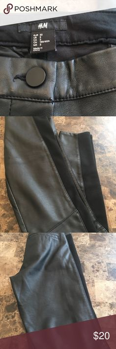 H&M pants H&M black pants. Inseam is 27 inches. Excellent condition. Offers are welcome! H & M Pants Leggings