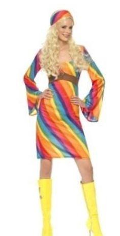 Regenboog Hippie Dames Kostuum - Maat Large