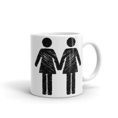 """""""Les Love"""" (black print) - Ceramic Mugs"""