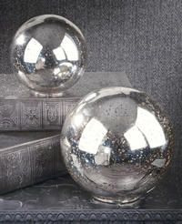 Tripar.com    Silver Mercury Glass Decor Sphere  Create a dazzling display of reflection and light with these high quality, modern, mercury glass spheres. Accentuate elegant bowls and displays in any room or space. Available in two sizes. Each size sold separately.
