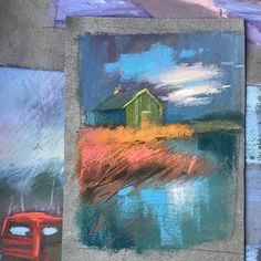 На английском это называется small daily painting, кажется. Как же потом легко делать большую работу, когда есть эскиз. И опять же, можно сразу понять, что будет смотреться выгодно, а что можно даже не начинать на большом формате. #pastelandscape #pastelpainting #unisoncolour #shcmincke #pastelpainting #пастель #живописьпастелью #сухаяпастель