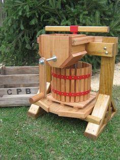 Make your own Apple cider! Apple Cider Press and Grinder 1012 Steel | cider-press-n-barrel - Woodworking on ArtFire