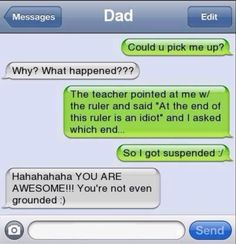 Awesome daughter/son! Lol