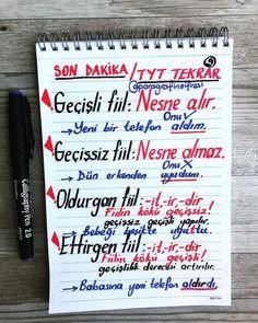 English Tips, English Lessons, School Motivation, Study Motivation, Intransitive Verb, Learn Turkish Language, Study Hard, Study Notes, My Teacher