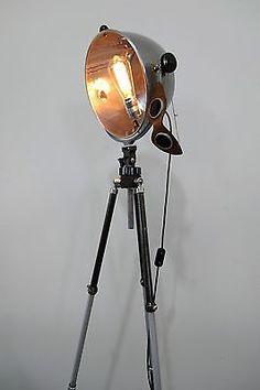 Tripod steh stativ lampe industrie design loft pattern 23 for Lampen zur scheune