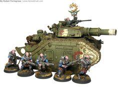 Hoy quiero compartir con vosotros una guía de pintura de un tanque de Warhammer 40k, un Leman Russ del Culto Genestealer. Hace unos 10 años me monté un ejército de la Guardia Imperial repleto de ve…