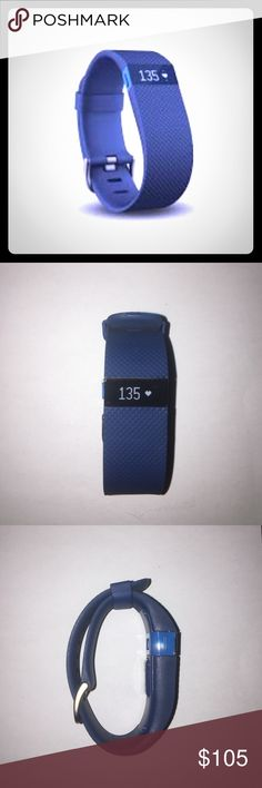 Fitbit Charge with Heart Rate Monitor This Fitbit Charge is brand new and never been used. It still has the protective tape on the screen. It comes in a beautiful blue color. Perfect gift for the upcoming holidays! Fitbit Other
