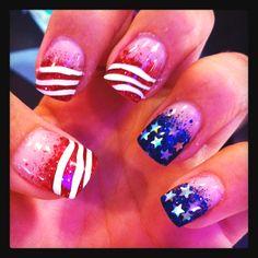 My 4th July nails :)