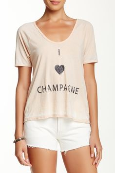 I Love Champagne Graphic Tee by Chaser on @nordstrom_rack