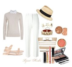 """""""sun in the sand"""" by lyn-kisha on Polyvore featuring See by Chloé, Givenchy, Eugenia Kim, Kate Spade, Chanel, L'Oréal Paris and Milani"""