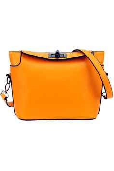 #ROMWE Orange Twistlock Bag