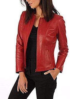 Kangma Womens Ladies Retro Rivet Zipper Up Bomber Jacket Casual Coat Outwear