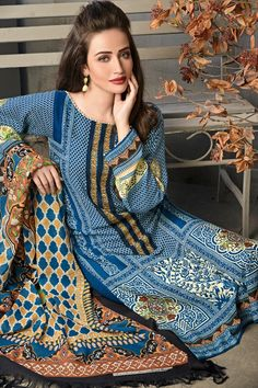 Pashmina Woolen P-49 Shop Now: https://www.gulahmedshop.com/products/ink-blue-pashmina-woolen-p-49