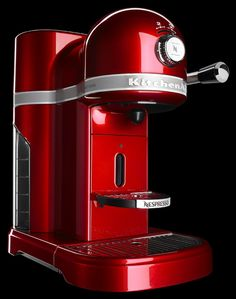 KitchenAid Nespresso Espresso Maker with Milk Frother - Candy Apple Red Cappuccino Machine, Espresso Machine, Cappuccino Maker, Cappuccino Coffee, Kitchenaid, Espresso Maker, Coffee Maker, Nespresso, Kitchen Gourmet