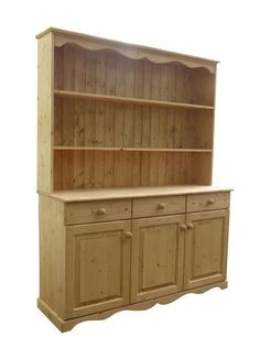 One of our latest 3 door solid pine dressers. Pine Dresser, Solid Pine, Dressers, Bookcase, Shelves, Doors, Home Decor, Shelving, Slab Doors