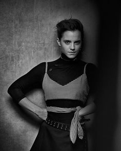"""Interview Magazine (@interviewmag) na Instagramie: """"""""I'm the girl who will get up and dance with zero alcohol in her system. You need give me no…"""" Emma Watson. Photo: Peter Lindbergh"""