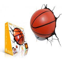 Sports Basketball Ball with Crack FX Wall Night Light Sports Basketball, Night Light, Deco, Wall, 3d, Ebay, Room, Bedroom, Decor