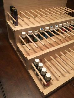 At the same time, when your brain recognizes that you have actually breathed in specific anxiety-relieving essential oils, the production of stress-causing hormonal agents like cortisol is decreased. Essential Oil Rack, Essential Oil Storage, Retail Display Shelves, Store Displays, Box Shelves, Perfume Display, Soap Display, Furniture Store Display, Cosmetic Display