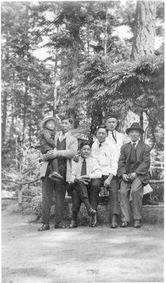 The Takata family at the original Japanese Tea Garden in Esquimalt Gorge Park - Esquimalt Municipal Archives photo Emily Carr, Vancouver Island, The Neighbourhood, Victoria, Japanese, Tea, Park, History, Places