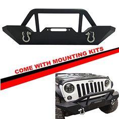 Mifeier Fit Jeep Wrangler JK Front Bumper Guard Rock Craw...